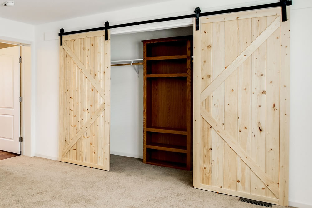 Closet barn doors option